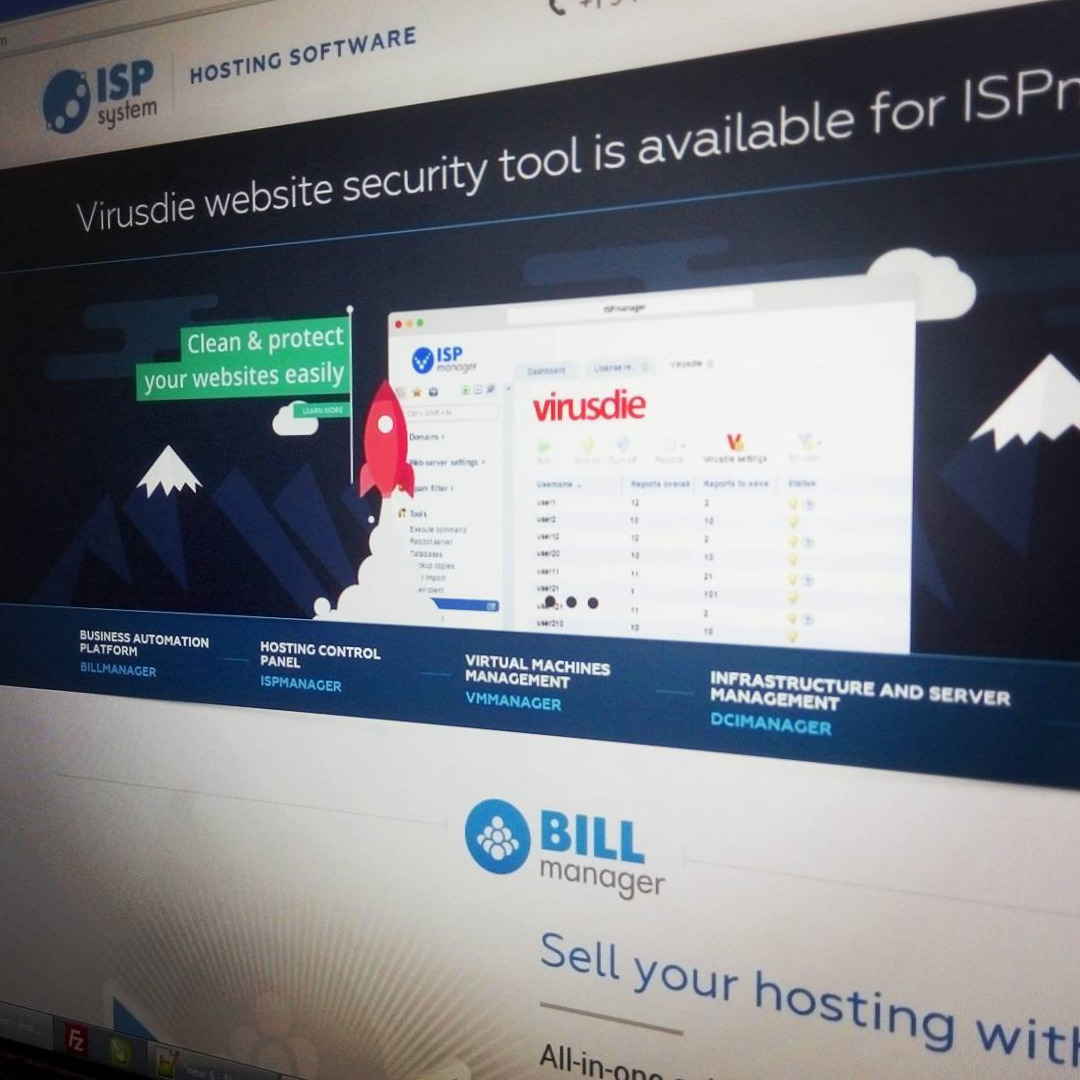 ISPmanager business Virusdie