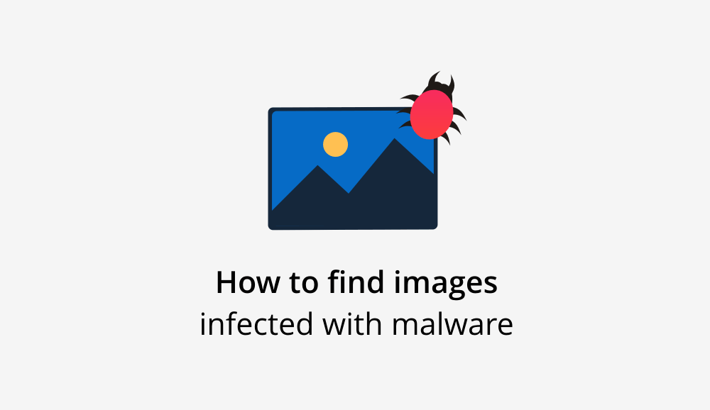 Images infected with malware or malicious images on websites