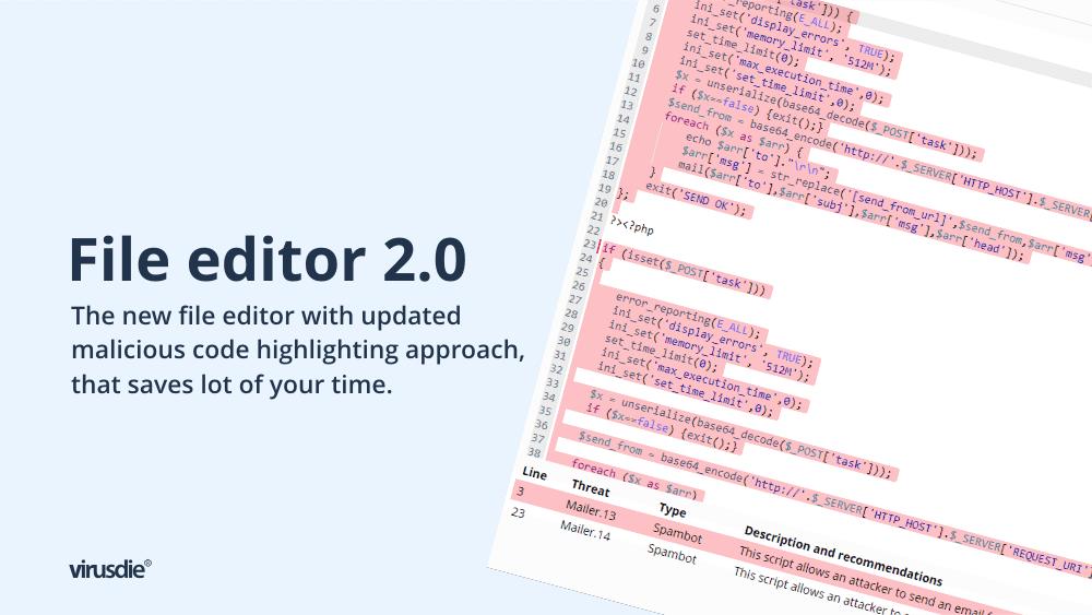 Virusdie file editor 2.0