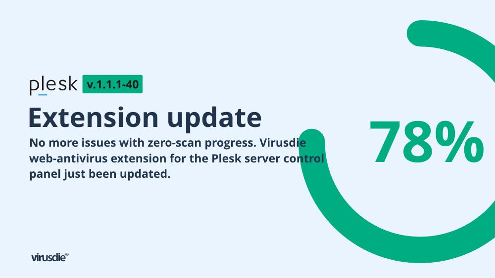 Plesk Virusdie zero scan progress