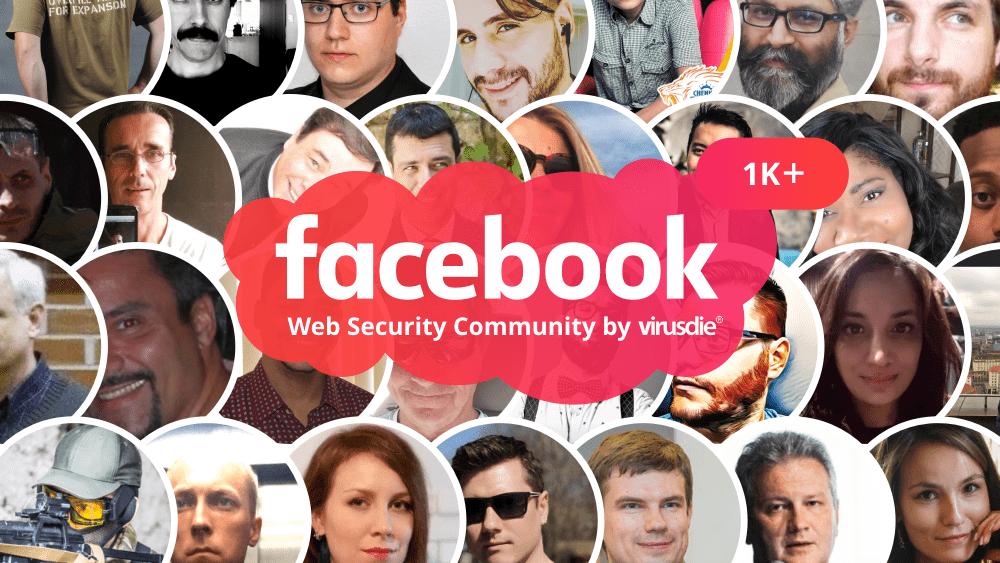 Virusdie facebook community 1000 people