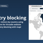 Country blocking feature for the website firewall