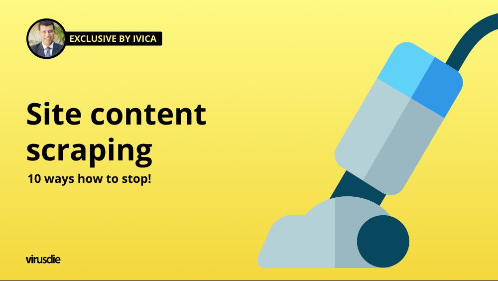 stop website content scraping