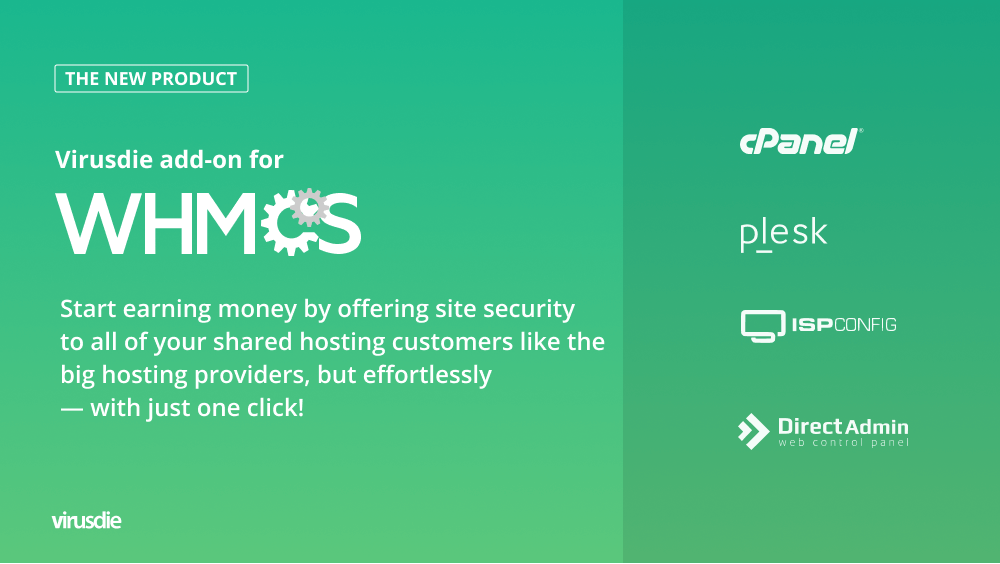 Virusdie add-on for WHMCS
